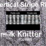 Title image. Public and private side of grey and white vertical stripe rib next to each other.
