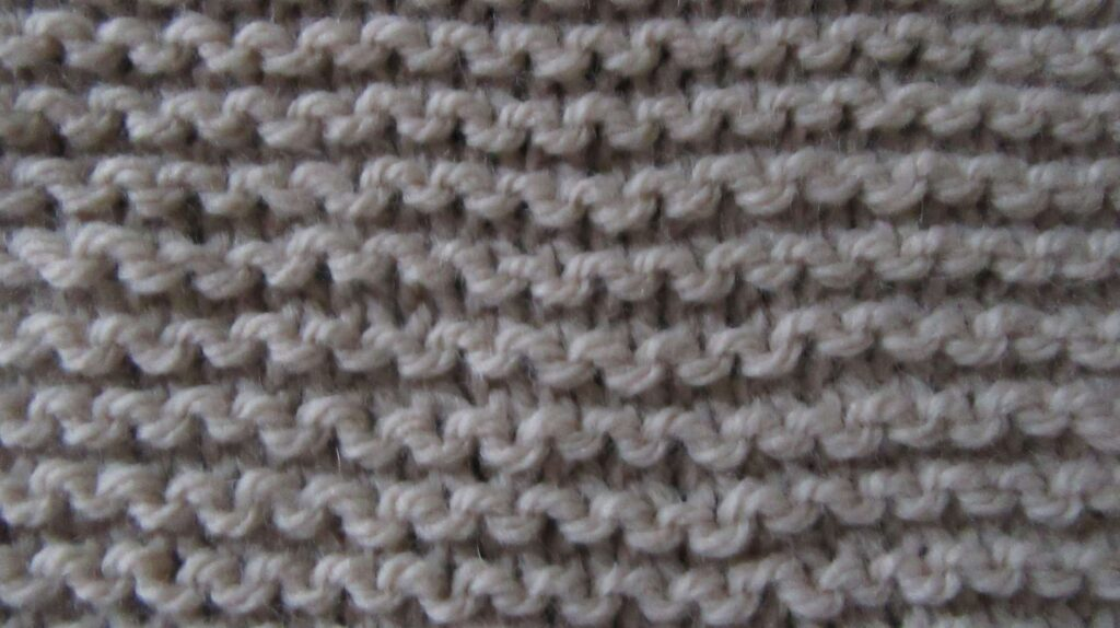 Swatch showing garter stitch