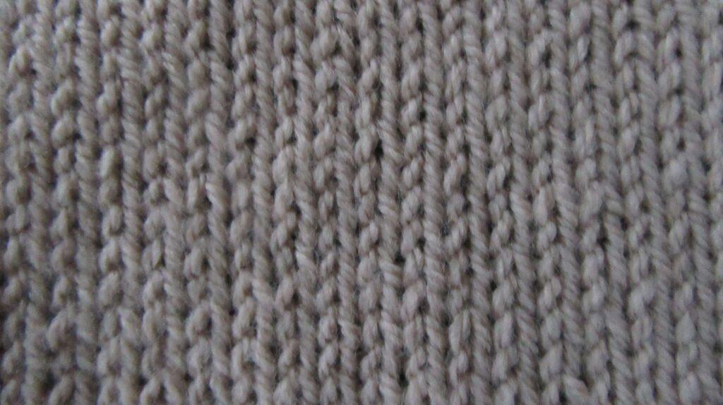 Stocking stitch swatch
